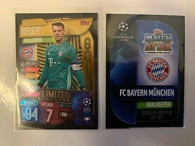 Match Attax 2019//20 Manuel Neuer Gold Limited Edition card NEW