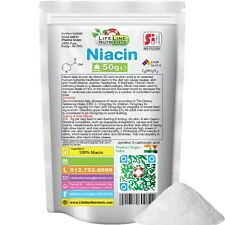 50g (1.76 oz) PURE NIACIN NICOTINIC ACID POWDER (Pk) - Pharma Grade - Free Ship