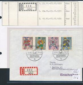 10408) Spécial R-ticket De Cologne Spoga, Lettre Sst 27.10.70-afficher Le Titre D'origine