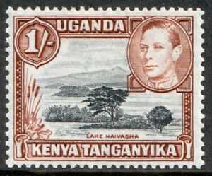 Kenya-Uganda-and-Tanganyika-KGVI-1938-1s-1-Black-Brown-SG145b-Mint-MLH
