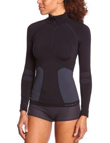 Odlo Womens Evolution Warm 1 2 Zip Long Sleeve Shirt