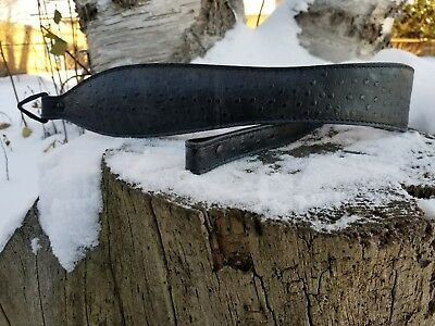Western Style Embossed Black//Silver Leather Rifle Sling