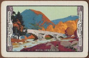 Playing-Cards-Single-Card-Old-LNER-Railway-Train-Advertising-Art-ROYAL-DEESIDE-1