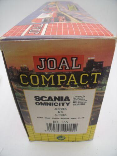 Joal Compact Ref 155 Scania Omnicity Autobus Vus Red Line/ Boite / Boxed 1:50