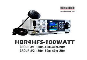 100W SSB/CW HF Transceiver (80m, 40m, 30m, 20m) HBR4HFS band group #1