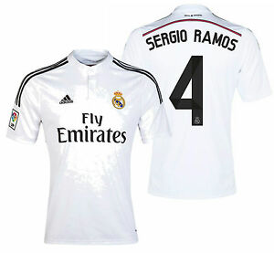 best sneakers 725ea 2bdcf purchase adidas real madrid sergio ramos 4 home 14 15 long ...