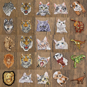 Animal-Iron-on-Patch-Embroidered-Applique-Craft-DIY-Clothes-Bag-Sewing-Cute