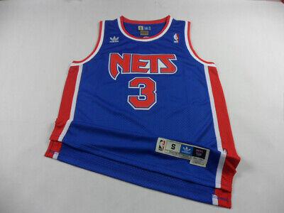New Jersey Nets #3 Drazen Petrovic Retro Blue Basketball Jersey Size XXL S