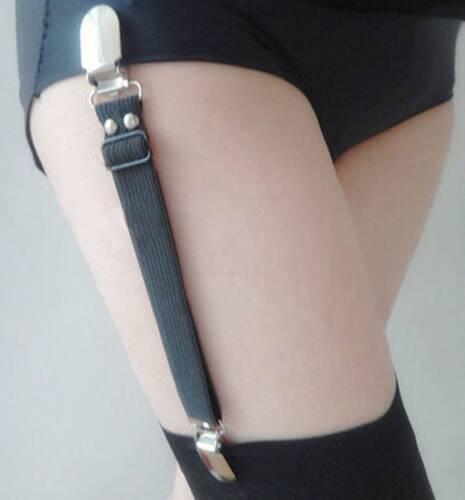 Ein Strumpfhalter einfach Schwarz Weiss Rosa Strapshalter Straps Strumpfband