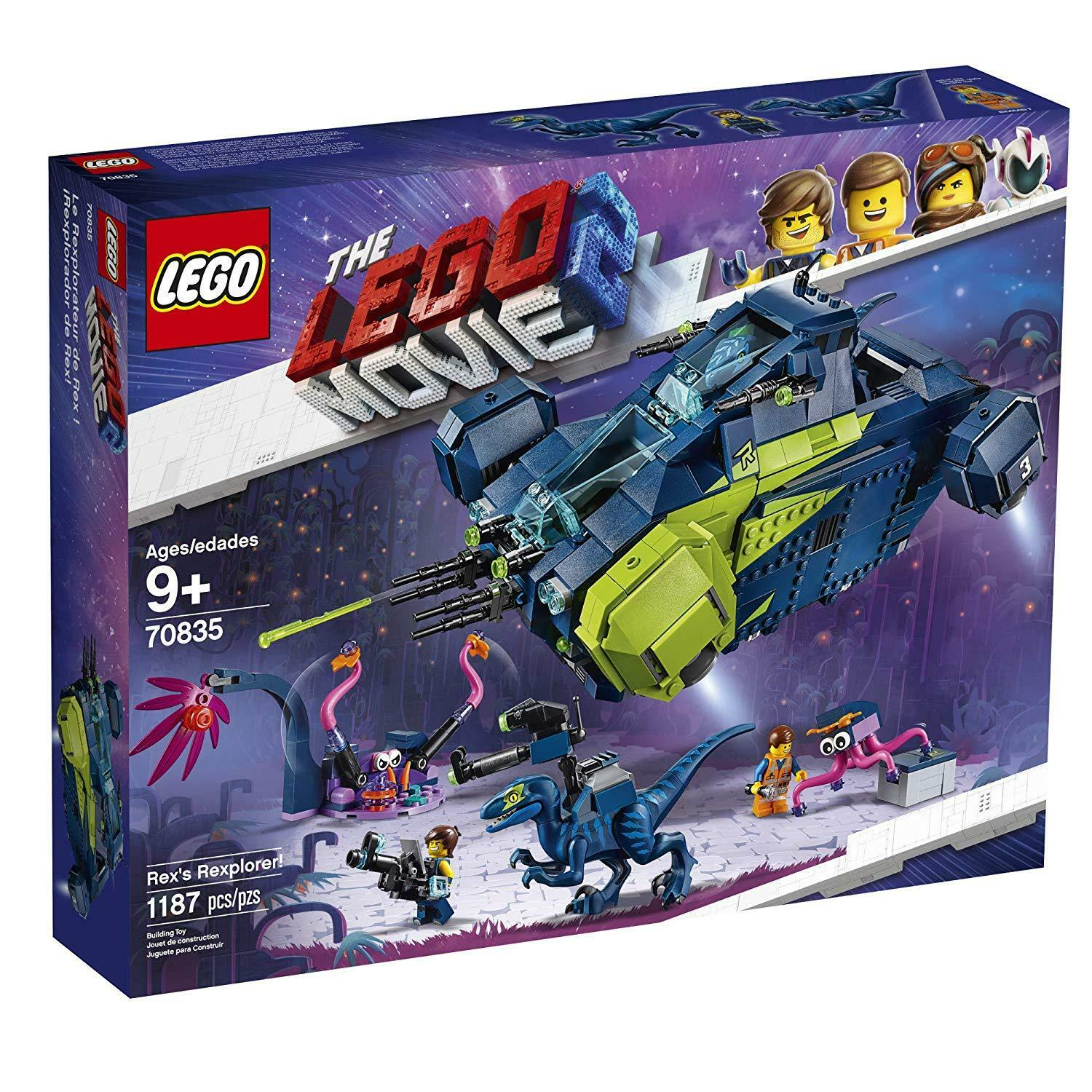 NEW NEW NEW Sealed  LEGO The Movie 2 Rex's Rexplorer  70835 Building Kit (1172 Piece) 584ee7
