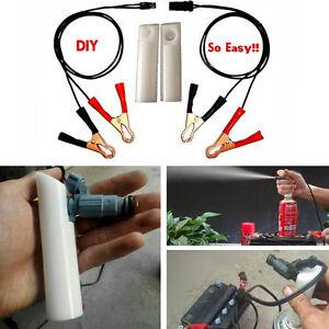 DIY Car Fuel Injector Flush Cleaner Adapter Kit Set Vehicle Cleaners Tool G EM~l
