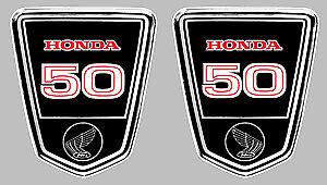2 X Sticker Dax 50 Honda 9,5x8cm Biker Enduro Trial Moto Autocollant Ha131 Gagner Une Grande Admiration