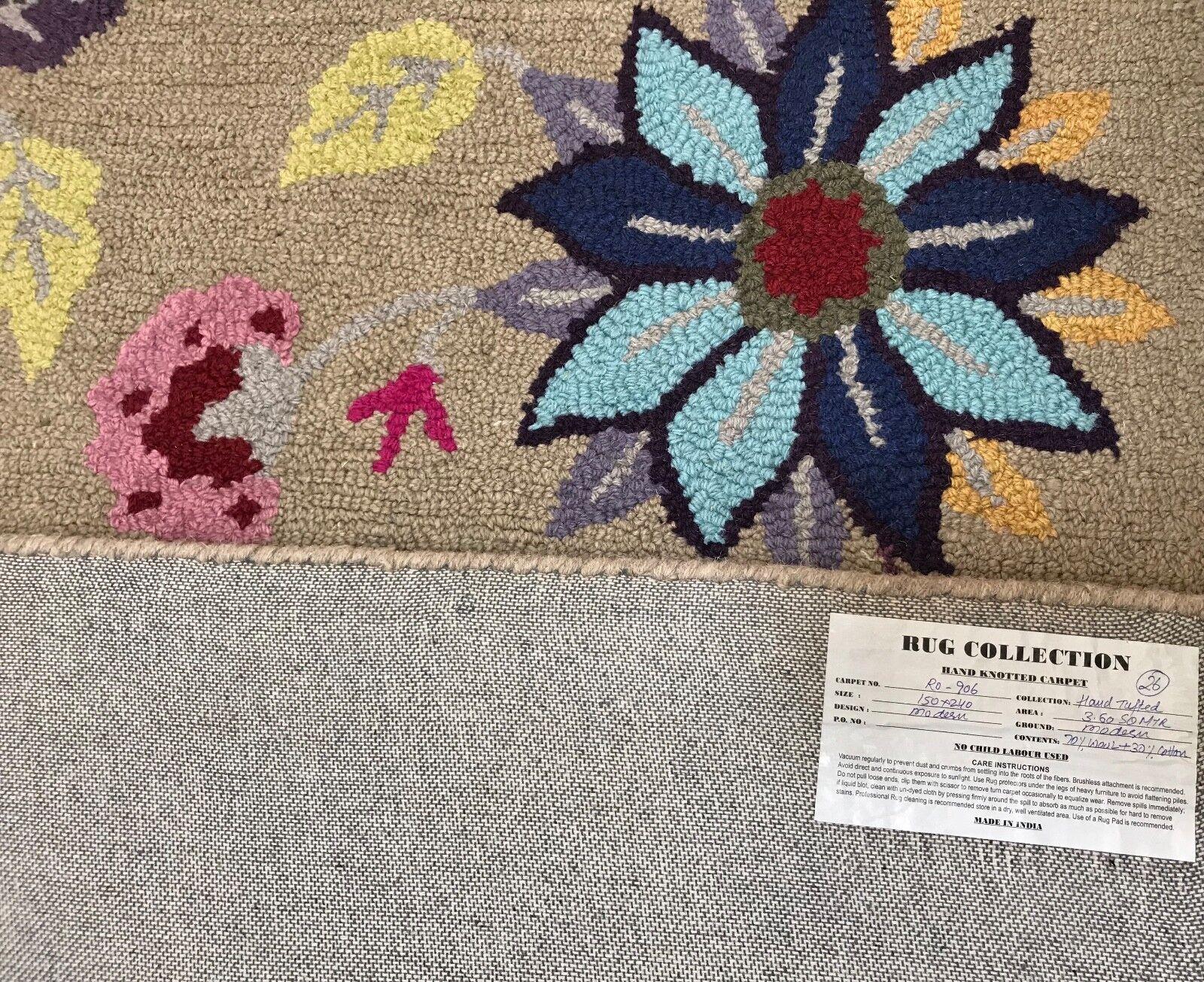 TAPPETO Designer 150x240 cm fatto a mano mano mano  100% LANA-handgetuftet loop  mh906 b924e5