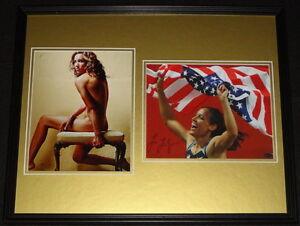 Lolo-Jones-Signed-Framed-16x20-Photo-Set-LEAF-C