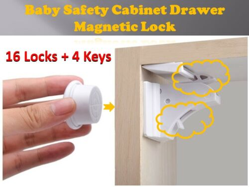Baby Child Safety Cupboard Door Drawers Lock Catch Invisible Magnetic Design