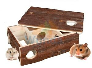 TRIXIE-LEIF-SMALL-ANIMAL-HAMSTER-MOUSE-LABYRINTH-MAZE-X-LARGE-WOOD-HOUSE-6201