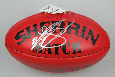 BUDDY LANCE FRANKLIN Hand Signed Leather AFL Ball HUGE Signature