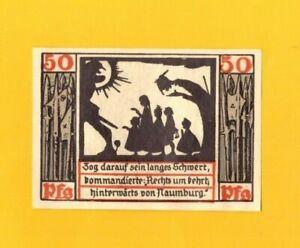 NAUMBURG-ALLEMAGNE-BILLET-MONNAIE-de-NECESSITE-illustre-OMBRE-CHINOISE-1920