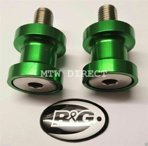 2018-636 R/&G RACING M8 Green PADDOCK STAND BOBBINS  FOR Kawasaki ZX6-R
