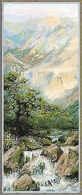 MOUNTAIN RIVER Counted Cross Stitch Kit RIOLIS