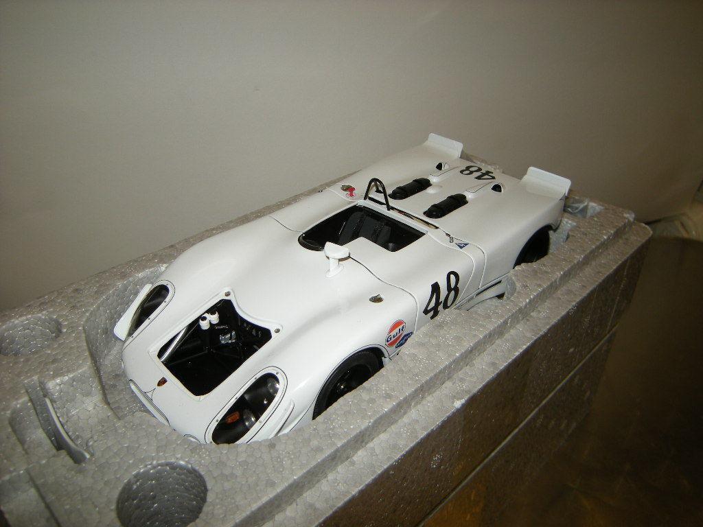 1 18 Autoart Porsche 908 02 vert Park Sebring 1970  48 Steve McQueen dans neuf dans sa boîte