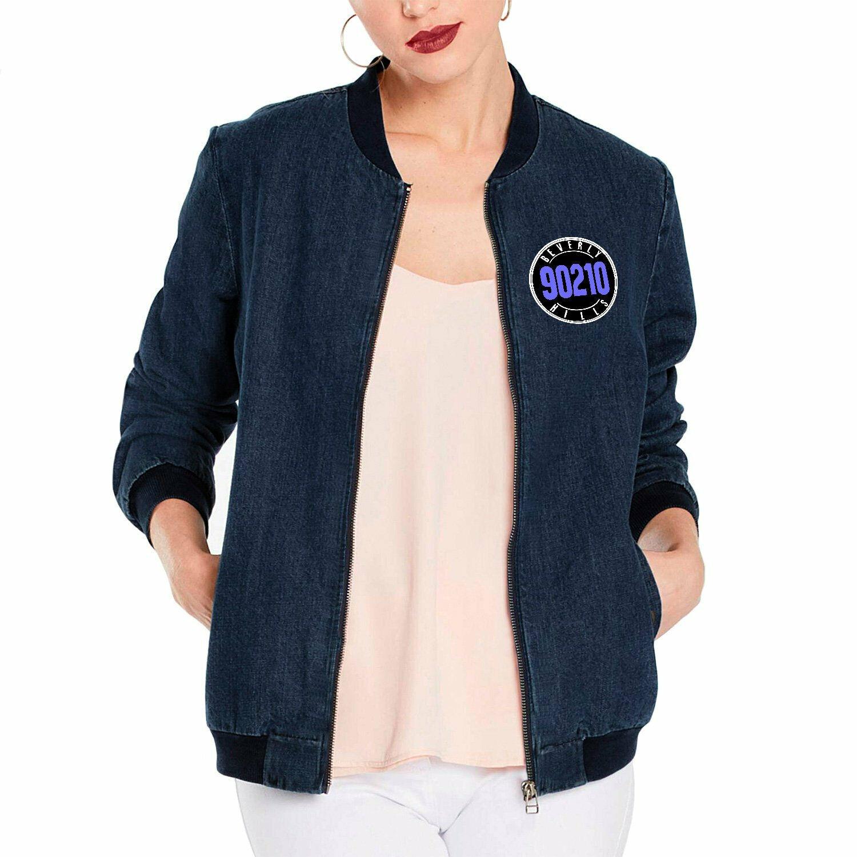 Beverly 90210 Veste en jean personnalisé vintage 80 Retro TV Show Jean Bomber