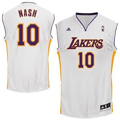 quality design 54736 8943c STEVE NASH LOS ANGELES LA LAKERS JERSEY XXL 2XL ADIDAS HOME WHITE NBA  REPLICA | eBay