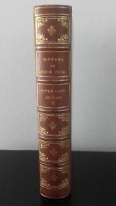 De Victor Hugo Tomo II A.Lemerre París + 2 Viñetas Rango Cabeza Oro Buen Estado