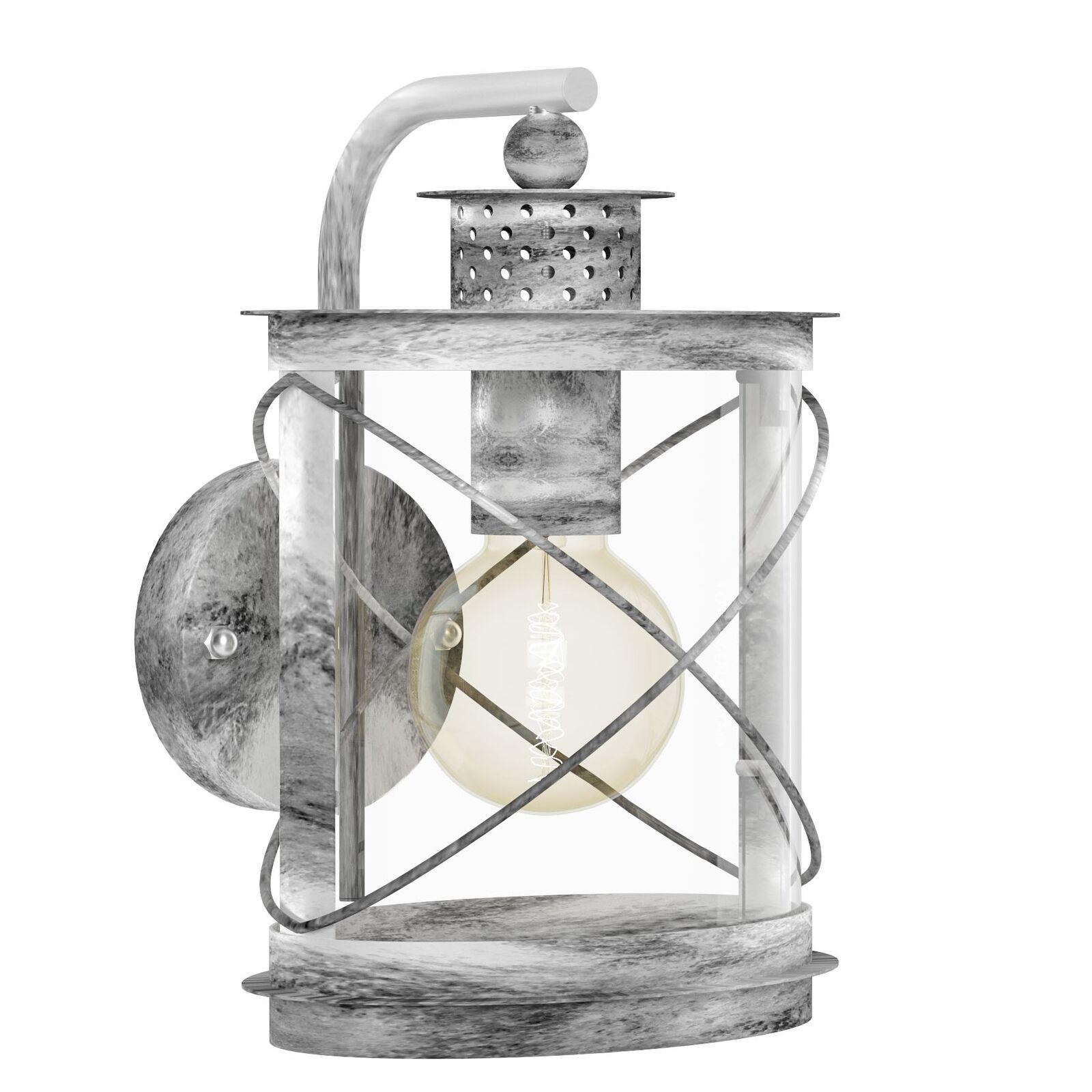 Luz lámpara de parojo 1-quemadores, e27 liqui. plata-Antik Hilburn 1