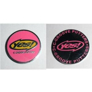 Yes-Golf-2-Sided-Ball-Marker-Pink