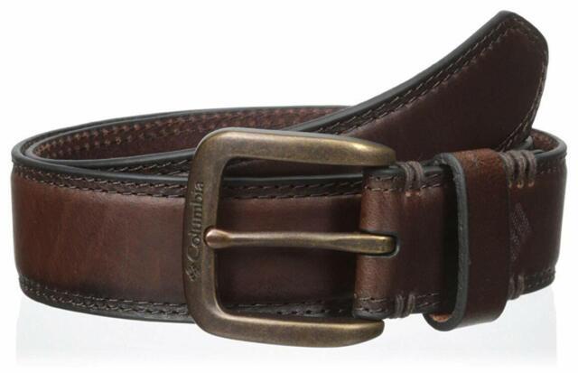 Columbia Mens 35mm Grain Feather Edge Belt