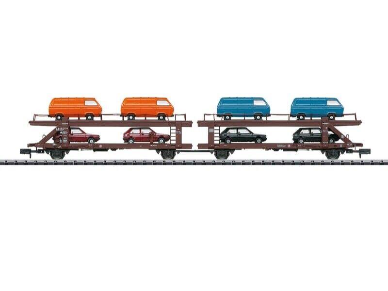 Trix 15442 Autotransportwagen Laekks 553 der DB, Minitrix Spur N  | Erste Klasse in seiner Klasse