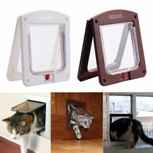 UK-Pet-door-4-way-Lockable-Small-Medium-Large-Cat-Puppy-Flap-Magnetic-Door-Frame