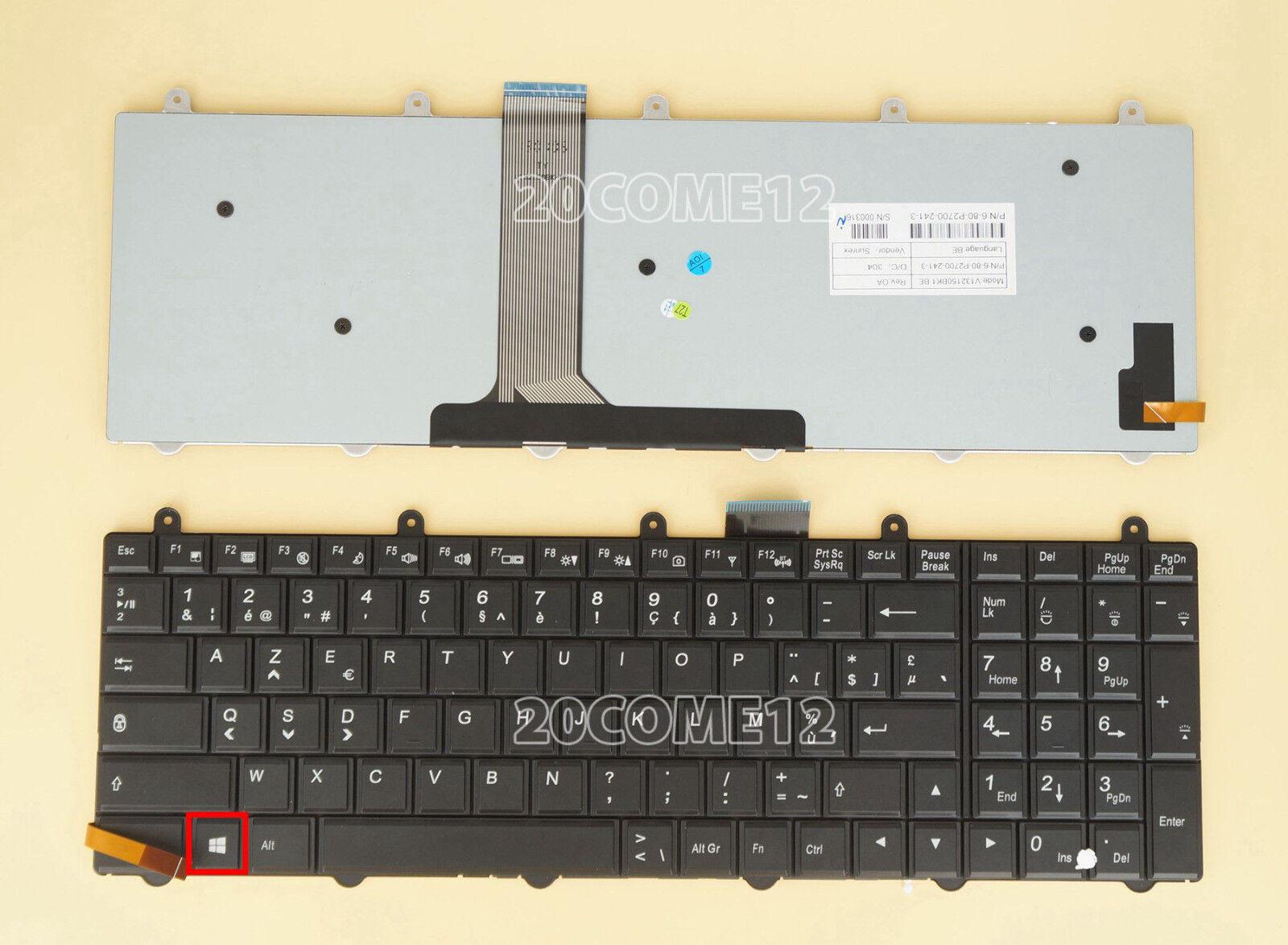New For Clevo P170SM-A P157SM-A P150SM-A Keyboard Backlit Belgian Clavier