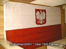 Fahnen Flagge Polen mit Wappen - 2 - 150 x 250 cm
