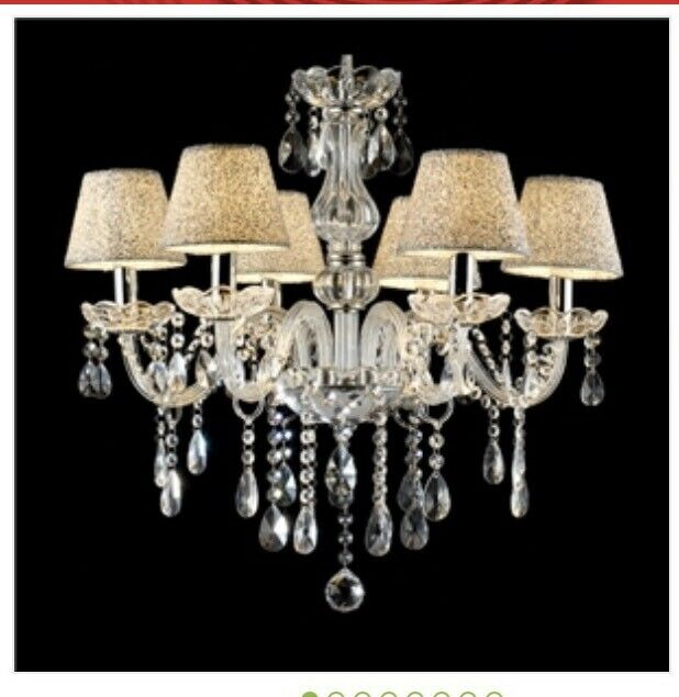 = 6 Light Crystal Chandelier Ceiling European Style Candle Pendant Light 60,21