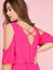 New-LANE-BRYANT-Cold-Shoulder-Sharkbite-Maxi-Dress-Pink-Magenta-Plus-24-26-28 thumbnail 3