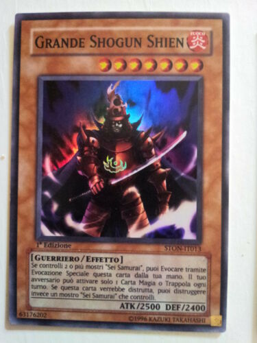 Y0067 YU-GI-OH! - GRANDE SHOGUN SHIEN * STON-IT013 1A EDIZIONE IT - YUGIOH