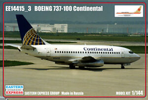 Eastern Express 1/144 Boeing 737-100 Continental Airlines Civil Airliner