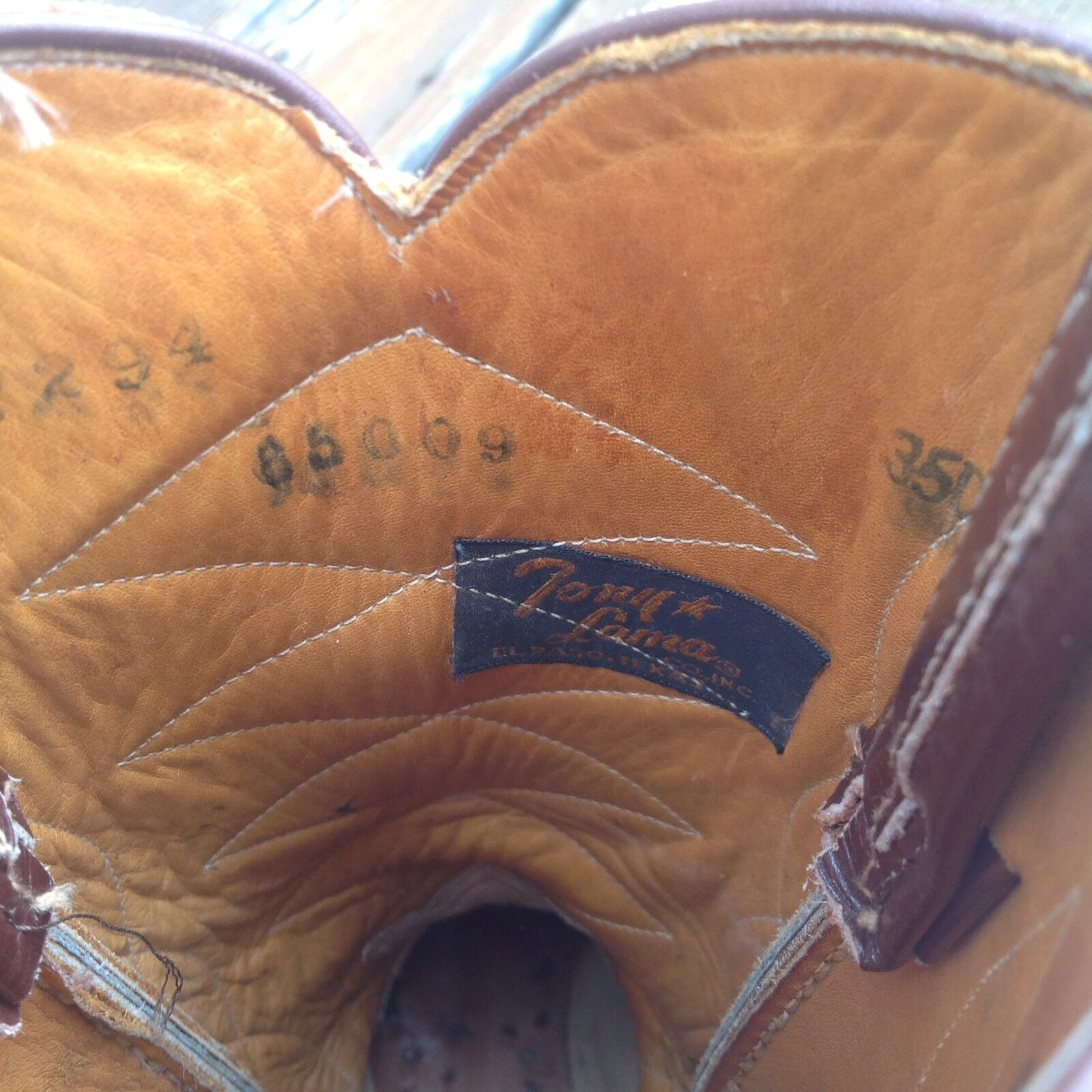 "Tony Lama Braun Cowboy Western Stiefel Leder Damenschuhe 10"" Heel To Toe Damenschuhe Leder Schuhes 84529e"
