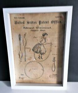 Cadre décoration vintage dépôt de brevet invention corde a sauter