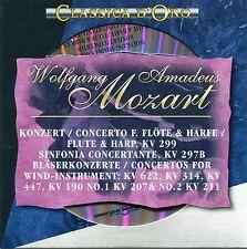 CD - Wolfgang Amadeus Mozart - Konzerte für Flöte und Harfe