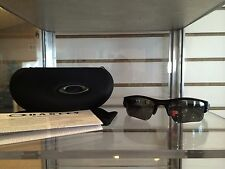 New Oakley Flak Jacket XLJ 12-903 Black w/Polarized Black Iridium Lens-100% REAL