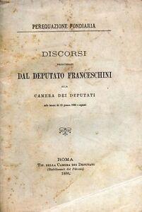 PEREQUAZIONE-FONDIARIA-DISCORSI-DAL-DEPUTATO-FRANCESCHINI-22-GEN-1886