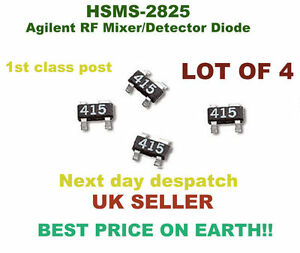 Details about Agilent RF Mixer/Detector Diode HSMS-2825 __________ LOT OF  4____________
