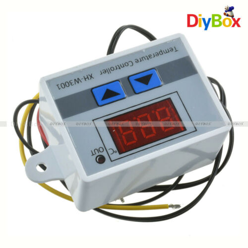 24V White Digital LED Temperature Controller 10A Thermostat Control Switch Probe