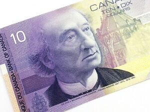 2001-Canada-10-Dollar-FDW-Uncirculated-Canadian-Knight-Thiessen-Banknote-M821