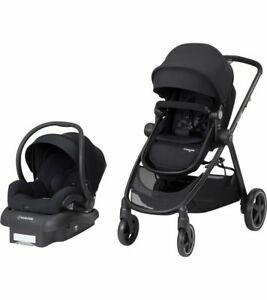 Chargement De Limage Maxi Cosi Zelia Travel System Night Black Stroller