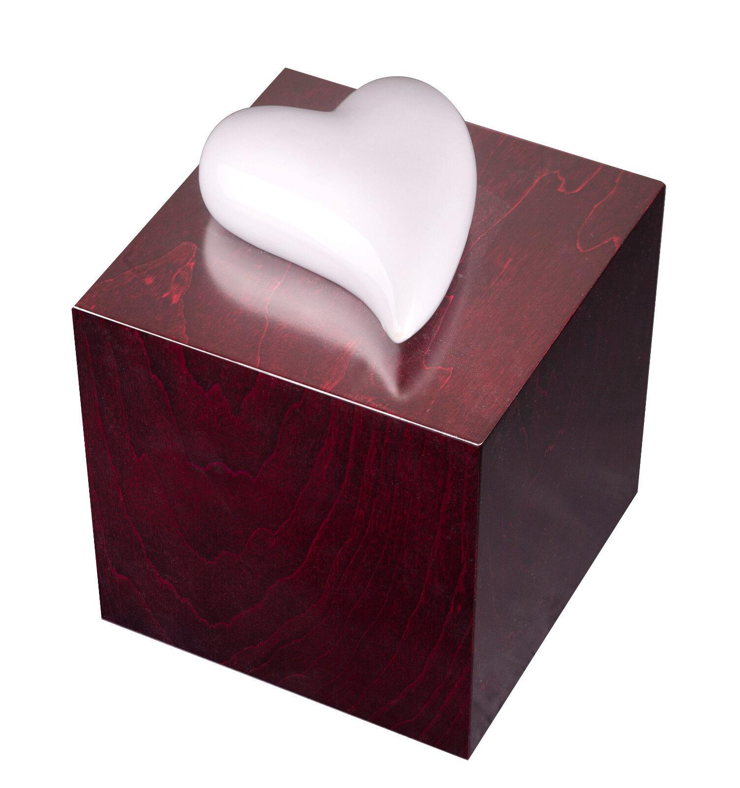Unico di design Urna Heart of Commemorazione cremazione per ceneri - adulto