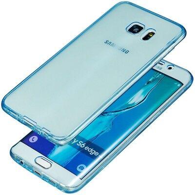 Full Handy Tasche Schutz Hülle Etui Case Transparent Cover TPU Bumper 360 Grad